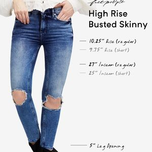 Free People Jeans - NWT Free People Distressed skinny jeans size 29 S